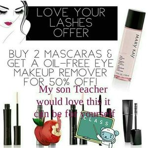 By 2 mascaras and get a makeup remover for free